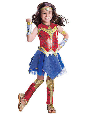 Childrens Wonder Woman Costume (Justice League Girls Deluxe Wonder Woman Superhero Childs Halloween)