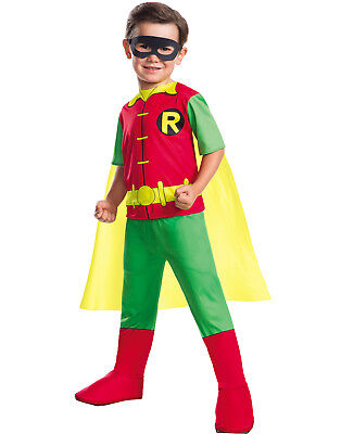 Boy Wonder Halloween-kostüm (Dc Comics Jungen Robin Boy Wonder Teen Titans Kinder Halloween Kostüm)