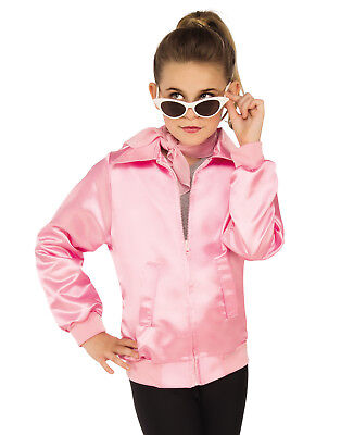 Grease Girls 1950'S Pink Ladies Frenchie Rizzo Childs Costume - Grease Pink Ladies Jacket Kids