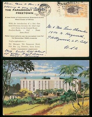 Mayfairstamps Sierra Leone 1960s Paramount Hotel to US Advertising Postcard wwo8