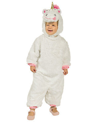 Despicable Me 3 Fluffy Unicorn Toddler Girls Costume Jumpsuit-Xs