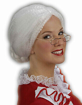 Mrs Santa Claus Wig White Grandma Old Lady Adult Costume Wig](Old Lady Wig)
