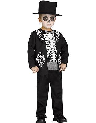 Skeleton King Toddlers Day Of The Dead Dia De Los Muertos Halloween Costume