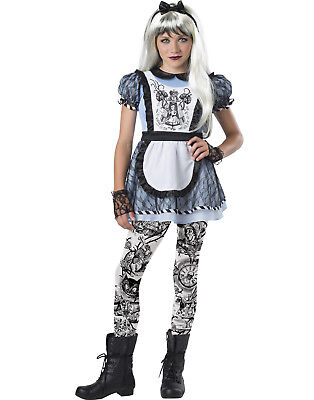 Malice In Wonderland Girls Child Wicked Alice Halloween Costume - Malice In Wonderland Halloween Costumes