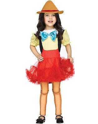 Wooden Girl Puppet Pinocchio Toddler Girls Halloween Costume - Pinocchio Girl Costume