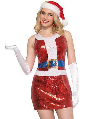 Christmas Santa Costume (Sequin Santa Claus Dress Red Sparkly Christmas Costume)