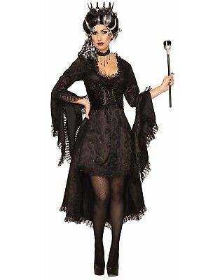 Dark Royal Wicked Princess Womens Adult Evil Queen Halloween Cost