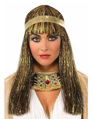 Golden Cleopatra Womens Adult Egyptian Princess Costume Wig