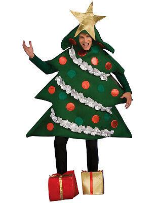 Adulti Albero di Natale Costume W/Regalo Piede Copri Natale Costume