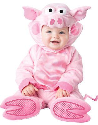 Precious Schweinchen Rosa Baby Ferkel Kleinkinder Tier Halloween Kostüm ()