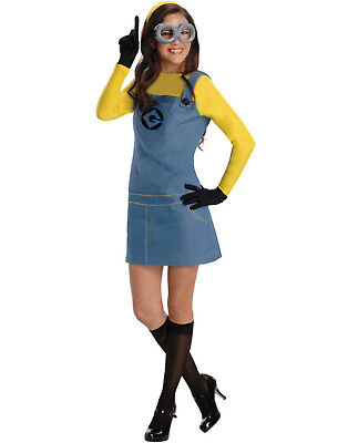 Despicable Me Deluxe Adult Minion Female New Fancy Dress Halloween Costume ()