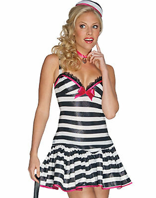 Secret Wishes Convicted Cutie Sexy Jailbird, Inmate Halloween Costume XS #5001 - Sexy Kostüm Jailbird