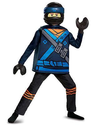 Lego Ninjago Film Jay Walker Jungen Luxus Lightning Ninja Halloween Kostüm
