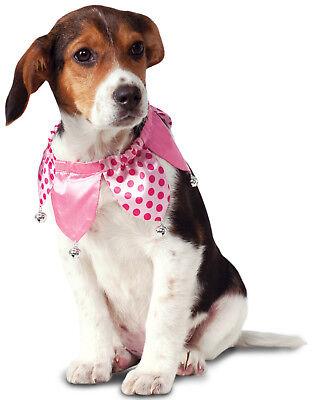 Pink Jester Clown Valentinstag Haustier Hund Katzenhalsband mit Glocken