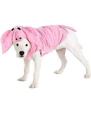 Pink Piggy Schwein Ferkel Haustier Hund Katze Halloween Nutztiere (Hund Schwein Kostüme)