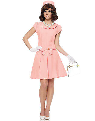 Jackie Kennedy Costume (First Lady Womens 1960'S Jackie Kennedy Pink Halloween)