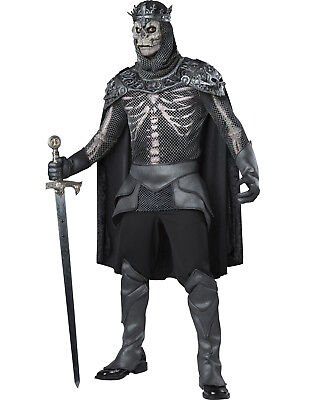 Skeleton King Mens Adult Zombie Royal Prince Halloween Costume - Skeleton Halloween Costume Man