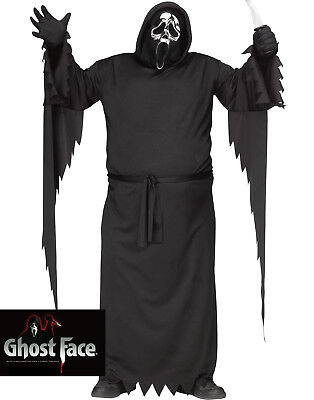Scream Mtv Ghost Face Silver Anniversary Adult Halloween Costume-Plus Size](Adult Ghost Costume)