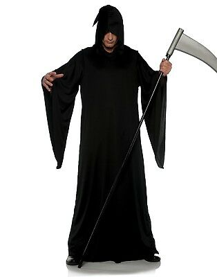 Grim Reaper Mens Adult Black Keeper Of Souls Halloween Costume - Soul Reaper Halloween Costume