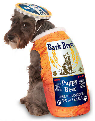 Bark Brew Puppy Beer Can Pet Dog Halloween Oktoberfest Costume - Beer Dog Halloween Costume