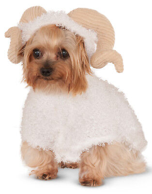Ram Sheep With Horns Pet Dog Cat Animal Halloween Costume Hoodie ()