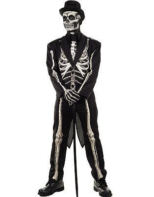 Voodoo Doctor Costume (Bone Chillin Mens Voodoo Witch Doctor Skeleton Suit Halloween)