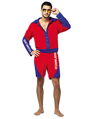 Baywatch Movie Adult Male Lifeguard Jacket And Shorts Halloween - Male Halloween Costume