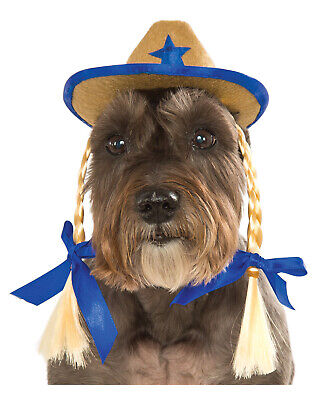 Haustier Hund Katze Western Cowgirl Sheriff Blau Kostüm - Hund Western Kostüm