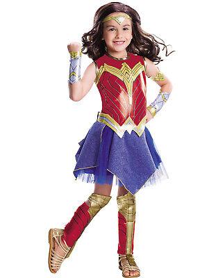 Wonder Woman Girls Deluxe Dc Superhero Childs Halloween Costume
