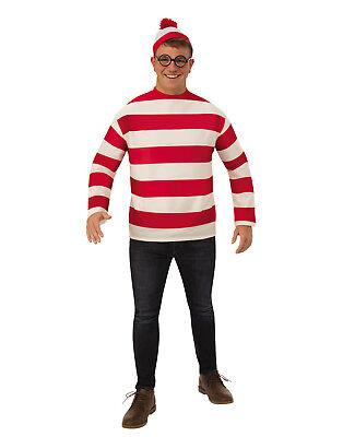 Wheres Waldo Mens Adult Book Character Plus Size Halloween Costume](Halloween Book Character Costumes)