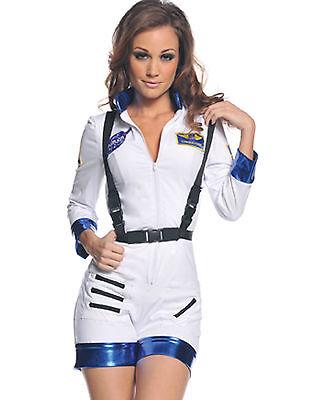 Commander Halloween Kostüme (NASA ROCKET SPACECRAFT COMMANDER ADULT HALLOWEEN COSTUME WOMEN'S SIZE MEDIUM)