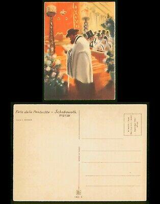 Mayfairstamps Judaica PC Art Fete Dela Pentecote Seeberger Postcard wwo89475