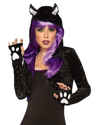 Black Cat Shrug Animal Kitty Fancy Dress Up Halloween Adult Costume Accessory (Cat Animal Halloween Costumes)