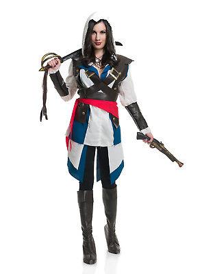 Halsabschneider Piraten Assassin Damen Videospiel Damen Halloween (Weibliche Videospiel Kostüme)