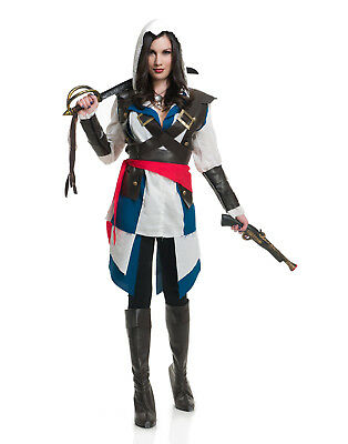 Cutthroat Pirate Assassin Lady Video Game Womens Halloween Costume - Woman Assassin Halloween Costume