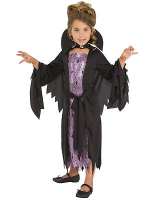 Little Vampire Girl Child Sparkly Spooky Halloween - Spooky Girl Costumes