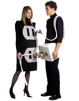 Rasta Imposta Plug And Socket Set Foam Tunic Adult Couple Halloween Costume 7212 - Socket Costume Couple