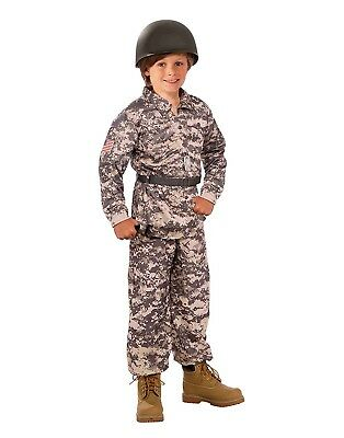 Desert Soldier Boys Child Army Military Fighter Halloween Costume - Desert Army Costume