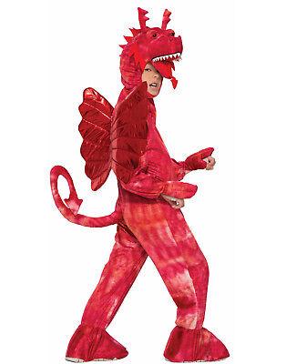 Kinder Roter Drache Mythisch Märchen Tier Maskottchen - Märchen Kostüm Männlich