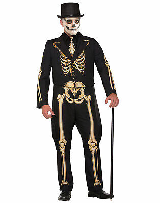 Skeleton Printed Formal Tuxedo Mens Adult Halloween