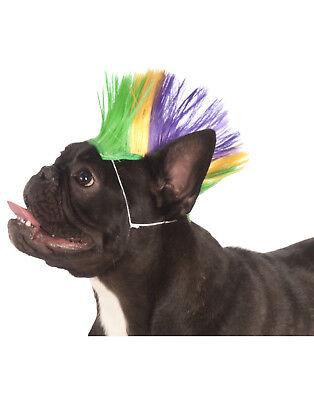Mardi Gras Pet Punk Rock Spiked Mohawk Dog - Punk Rock Dog Kostüm