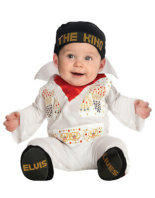 Baby Elvis Presley White Jumpsuit Infant - Elvis Presley Baby Costume