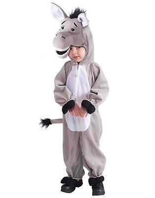Maskottchen Plüsch Esel Unisex Kinder Bauernhof Tier Halloween (Kinder Plüsch Esel Kostüme)