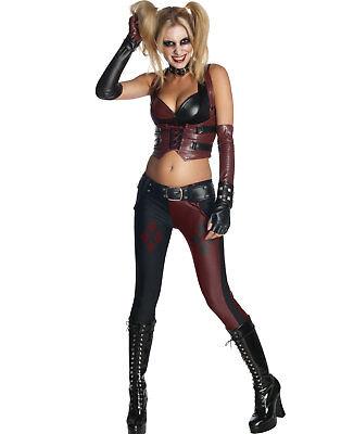 Sexy Gothic Gotham Harley Quinn Jokers Girl Womens Halloween - Harley Joker Girl Kostüm
