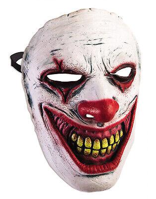 Evil Clown Mens Adult Creepy Smile Jester Latex Halloween Mask