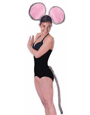 Riesige Maus Satz Grau Tier Stirnband & Schwanz Erwachsene Kostüm - Rosa Maus Schwanz Kostüm