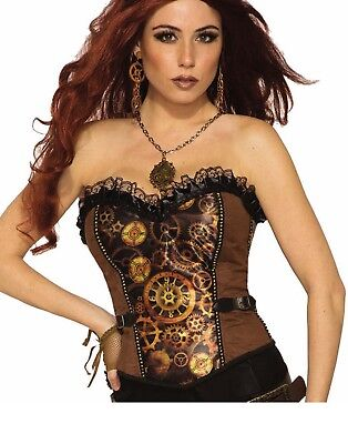 Steampunk Womens Adult Waist Clincher Halloween Costume Corset-Std