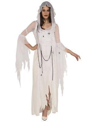 Ghostly Spirit Adult Women White Gothic Ghost Halloween Costume-Std