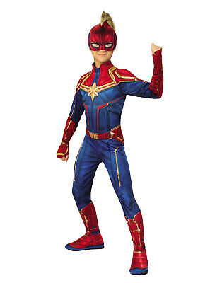 Captain Marvel Girls Child Ms Marvel Superhero Costume Suit](Superheroe Costume)