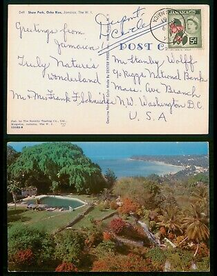 Mayfairstamps Jamaica 1961 Shaw Park Ocho Rios to Washington DC USA Postcard wwp